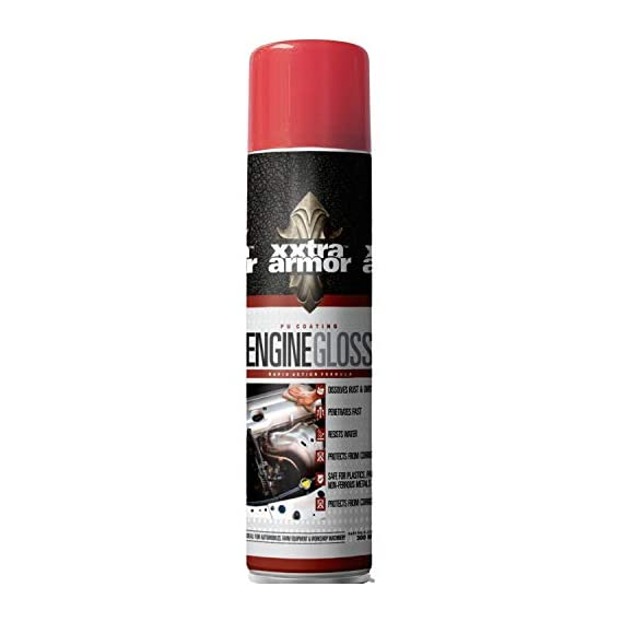 Xxtra Armor Engine Gloss (PU Coating) for Engine Corrosion Protection (300ml)