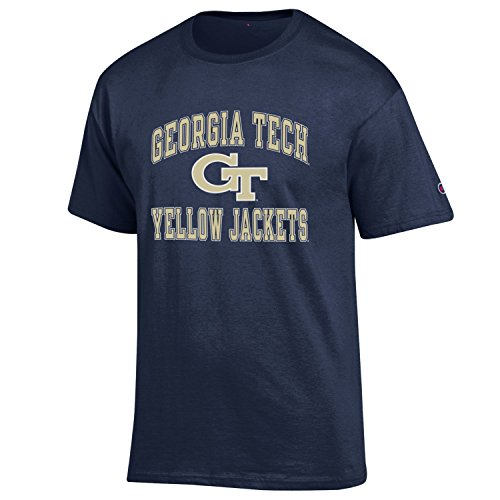- Champion NCAA Men's Shirt Short Sleeve Officially Licensed Team Color Tee, Georgia Tech, Large