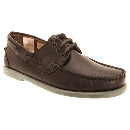 Dek - Zapato de piel modelo Moccasin Boat Hombre Caballero - Trabajar / Vestir Marrón