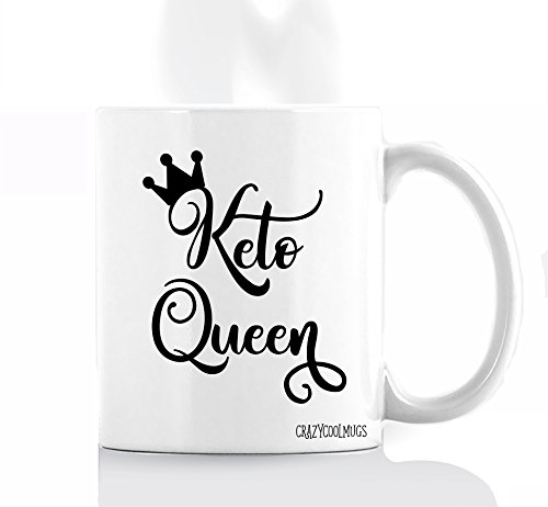 Funny Diet Coffee Mug by Crazy Cool Mugs   Keto Queen 11 Ounce