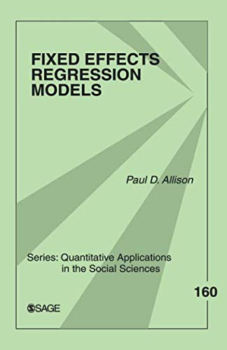 Best fixed effects regression models list
