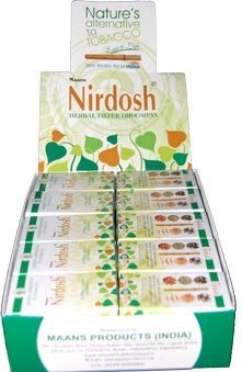 Nirdosh Herbal Ayurvedic Tobacco And Nicotine Free Cigarettes - 1 Carton Of 30 Packs by Nirdosh