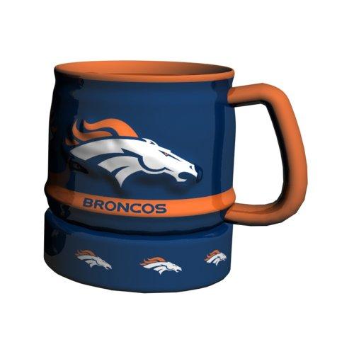 NFL Denver Broncos Barrel Mug, 16-Ounce, Blue