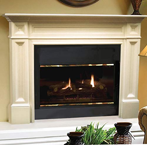 Pearl Mantels, Inc. 140-50 Pearl Classique Fireplace Mantel, 50-Inch, Unfinished