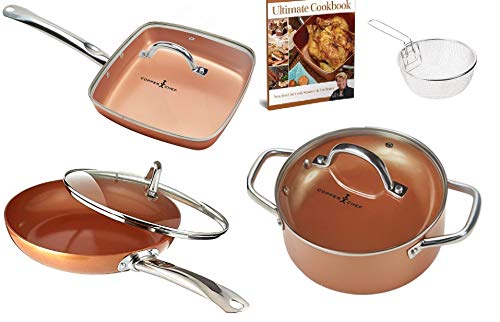 Copper Chef Elite 9 Piece Round Cookware Set -As Seen on TV!...