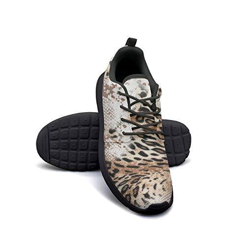 Natural Python Footwear - Hobart dfgrwe Leopard Python Pattern wih Flowers Girl Skateboard Casual Shoes Cute Fitness Shoe