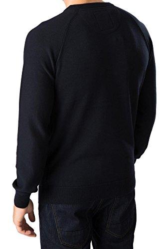Threadbare Herren Gestrickter Pullover Tallinn Pullover Rundhals Sweatshirt - Marine, XXL - Brustumfang 122-127cm