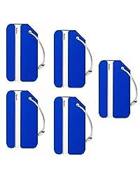 LouisJoeYu - Etiquetas para equipaje de aluminio, etiquetas brillantes y identificador de equipaje