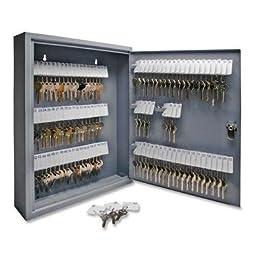 S.P. Richards Company  Secure Key Cabinet, 14 x 3 x 17-1/8 Inches, 110 Keys, Gray  (SPR15604)