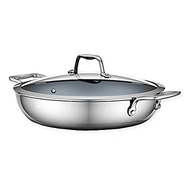 ZWILLING Energy 12-Inch Ceramic-Coated Stainless Steel Double-Handle Covered Braiser