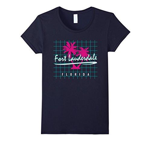 Womens Fort Lauderdale Florida T Shirt Souvenirs Vintage Pattern XL - Fort Women Lauderdale