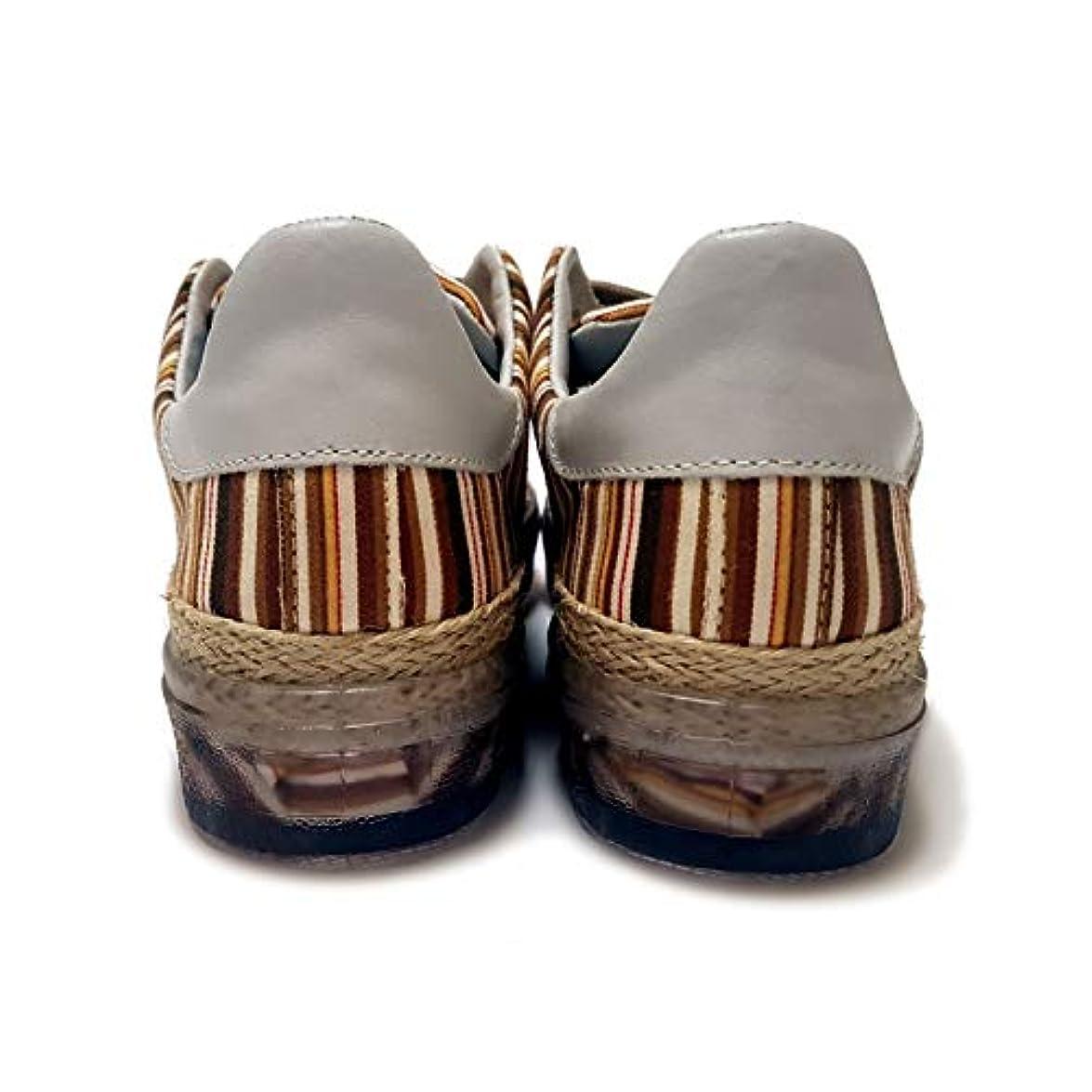 Divi Sneakers Donna Zc In Tessuto Rigato Con Suola Trasparente E Corda made Italy Edizione Esclusiva