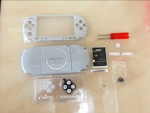 Psp Faceplates Buttons (NEW Replacement Sony PSP 3000 Console Full Housing Shell Cover With Button Set -White.)