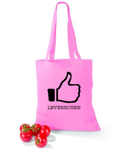Artdiktat Baumwolltasche I like Leverkusen Classic Pink