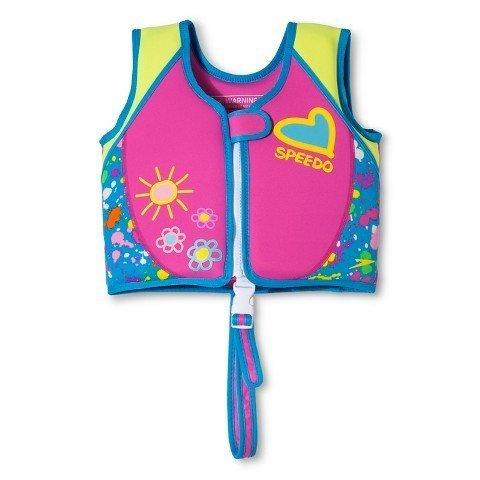 Speedo Swim UV Printed Neoprene Swim Vest Life Jacket, Si...