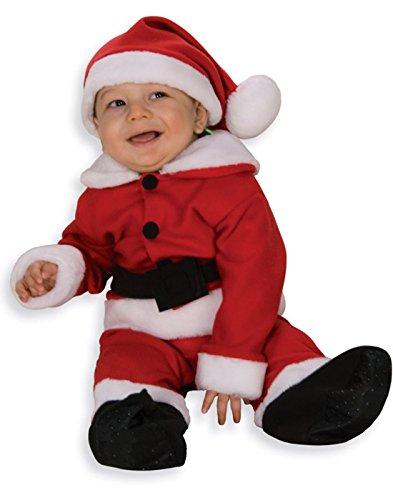 Santa Claus (Fleece with Belt) Romper Infant Christmas Costume Size 6-12 months