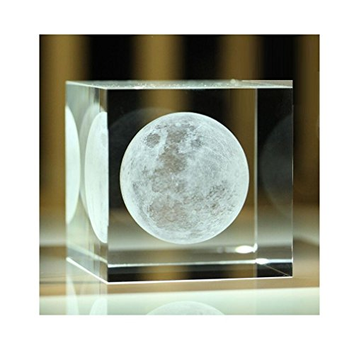 Xgunion Crystal Cube 3d Moon Birthday Christmas Gift - 3-d Crystal Cubes