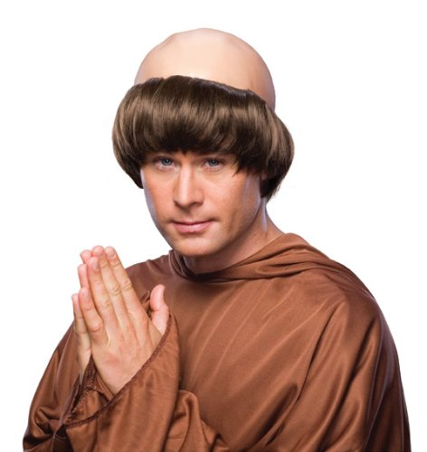 Rubie's Monk Wig with Tonsure, Brown, One Size -