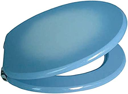 Sedile WC in MDF//Acciaio Inox 43,5 x 37,5 x 1,8 cm MSV 140011 Colore: Blu