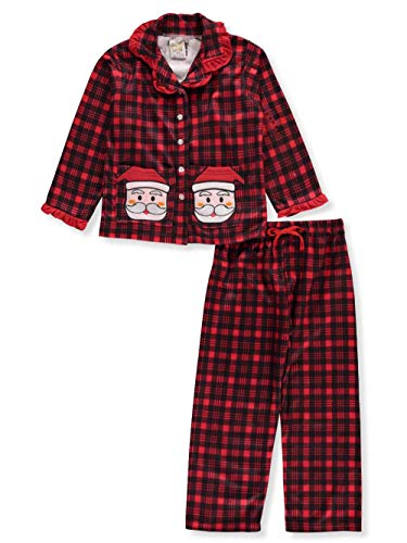 SWEET N SASSY Little Girls' 2-Piece Pajamas - red/Black, 4 ()