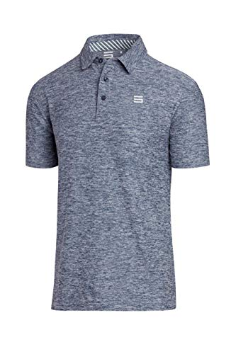 Three Sixty Six Golf Shirts for Men - Dry Fit Short-Sleeve Polo, Athletic Casual Collared T-Shirt - Ls Shirt Golf