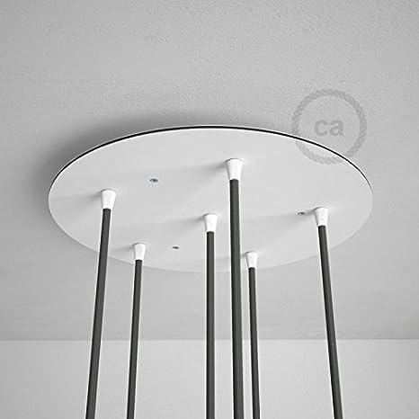 Creative-Cables Rosetón XXL Circular 35cm a 6 Agujeros ...