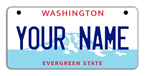 Georgetown Exterior Wall - BleuReign(TM Personalized Custom Name Washington State Motorcycle Moped Golf Cart License Plate Auto Tag