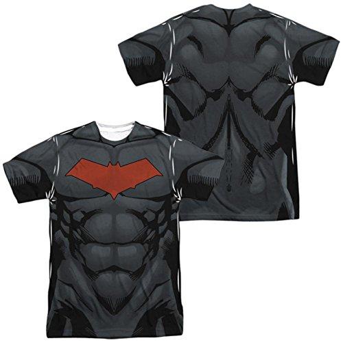 Batman- Red Hood Logo Costume Tee (Front/Back) T-Shirt Size XXXL ()