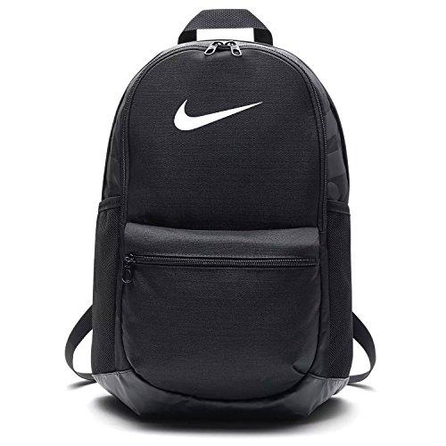 NIKE Brasilia Medium Backpack, Black/Black/White, Misc (Gym Backpack Nike)
