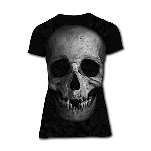 Womens Stylish Dead Skull Comfortable Short-Sleeve T-Shirts Tees S Funny Creative