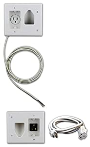 Amazon Com Datacomm 50 3323 Wh Kit Flat Panel Tv Cable