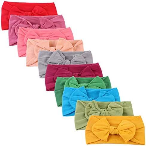 10 pack - Baby Girl Headbands - Baby Girl Bows