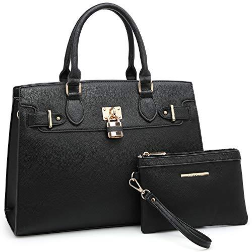 - Women Handbags Designer Shoulder Bags Top Handle Satchel Tote Purse for Ladies with Wallet (8149-Black)