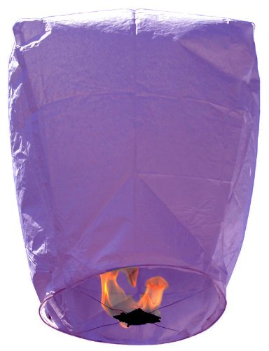 Eclipse Purple Flying Sky (Floating) Lantern/Kongming Light - Just Artifacts Brand