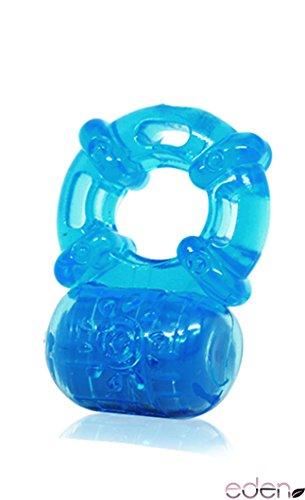 Uhome haute qualité 5 fréquence extensible G-spot pénis bague de contrôle de Cock silicone vibration cockring ambiance de massage balles stimulateurs point G pour hommes / hommes