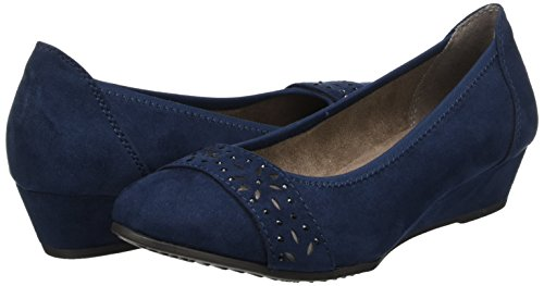 Softline navy Blue Closed toe 22260 Women''s Pumps rYnwvxFrqO