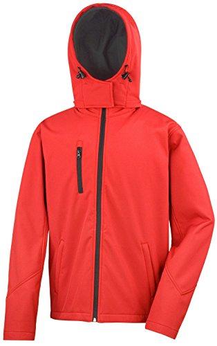 Da Softshell Hooded Red Nucleo Black Tx Jacket Risultato Colori Prestazione 4 Di Uomo ECxHq