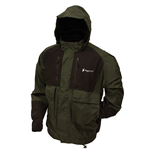 Frogg Toggs Men's Firebelly 2-Tone Jacket, Green/Black, Large