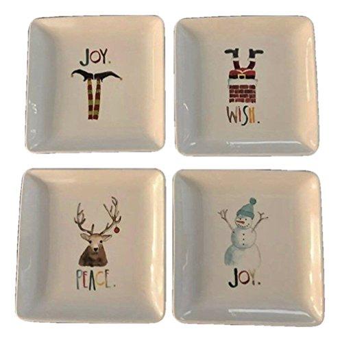 Rae Dunn Christmas Plate set