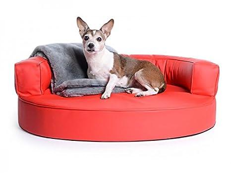 Divano Rosso Ecopelle : Cani letto cani divano atlanta in ecopelle rosso impermeabile