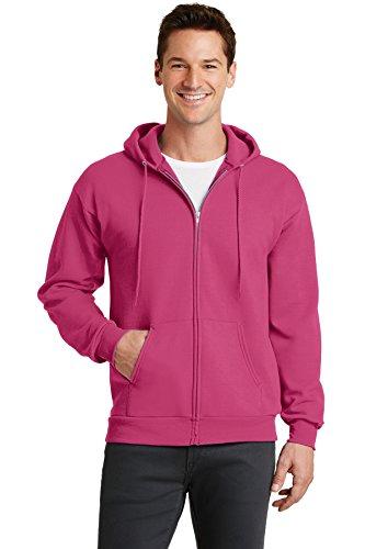 Port & Company Men's Classic Full Zip Hooded Sweatshirt XXL Sangria -