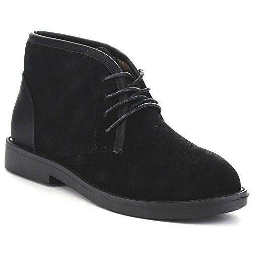 Bella Marie Marcy-11 Womens Soft Lace Up Chukka Boots Black dkc4BTbF