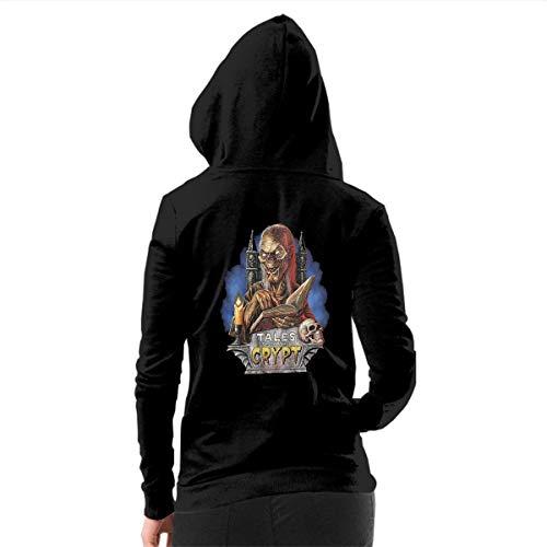 LLBUGS-hoodie Women's Tales from The Crypt Poster 2 Zip-up Hoodie Casual Style Hooded Sweatshirt Black L ()