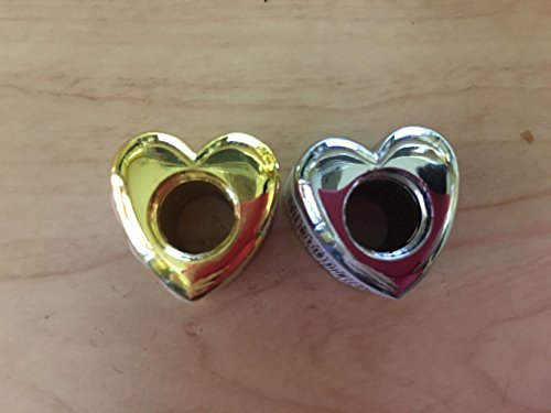 - 2 Metal Heart Cigarette Snuffers