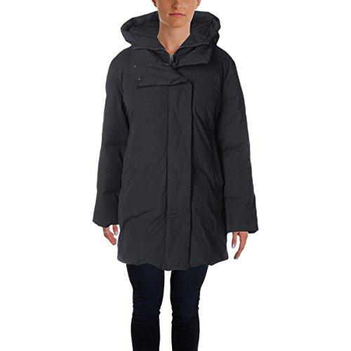 Pure DKNY Womens Down Hooded Coat Black - Dkny Down Coats