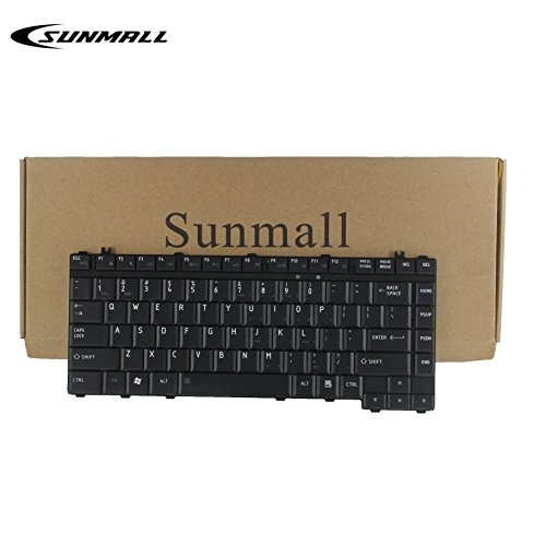 SUNMALL Keyboard Replacement Compatible with Toshiba Satellite L200 L201 L202 L203 L205 L210 L215 L300 L300D L305 A200 A205 A210 A215 A300 A305 A305D A306 A350 A355 Black US Layout (A200 Toshiba Satellite Keyboard)