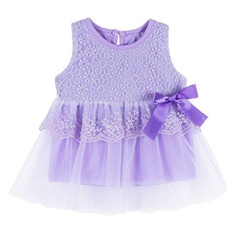 Weixinbuy Kids Girl Cotton Blend Puffy Summer Bow Sundress Stripe Skirt