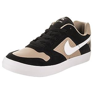 Nike Men's SB Delta Force Vulc Black/Khaki/White/White Skate Shoe 8 Men US