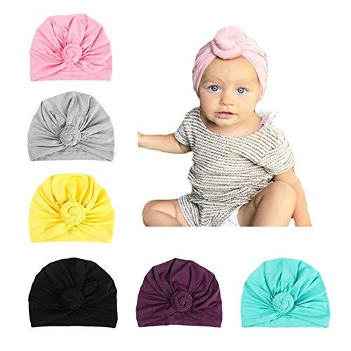 Xinshi Girls Baby Cotton Cloth Turban Kont Toddler Tabbit Ears Hat Kids Set Head Cap