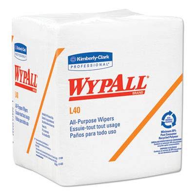 (KIM05701 Kimberly Clark Wypall L40 Quarterfold Wipers, White)